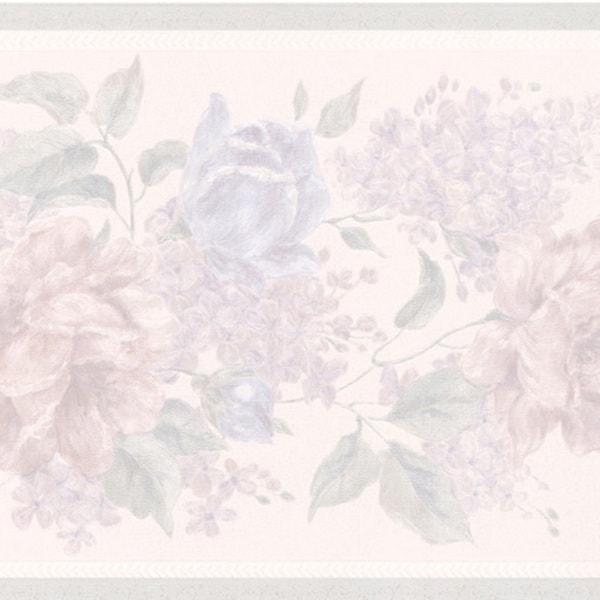 Lavender Floral Border Wallpaper