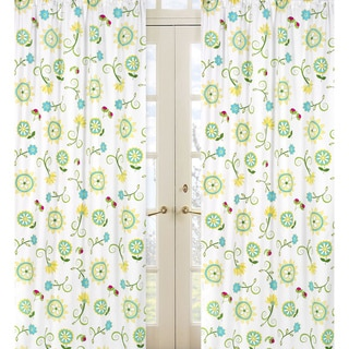 Sweet jojo designs curtains buy window - Green and turquoise curtains ...