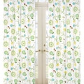 Turquoise and Lime Floral 84-inch Curtain Panel Pair