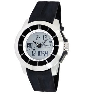 Kenneth Cole Men's 'Touch' Black Calfskin Strap Watch