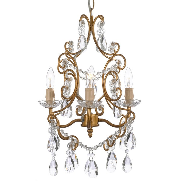 Swag Plug In Wrought Iron Crystal Chandelier In September Seven Bwminich Com