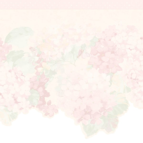 Blush Hyacinth Border Wallpaper
