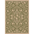 Antibes Indoor/ Outdoor Green/ Beige Rug (2'7 x 5'11)