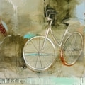 Patrick Wright 'Cozy Bike' Abstract Print