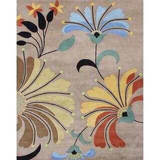 Alliyah Handmade Brown New Zealand Blend Wool Area Rug (10 x 12)