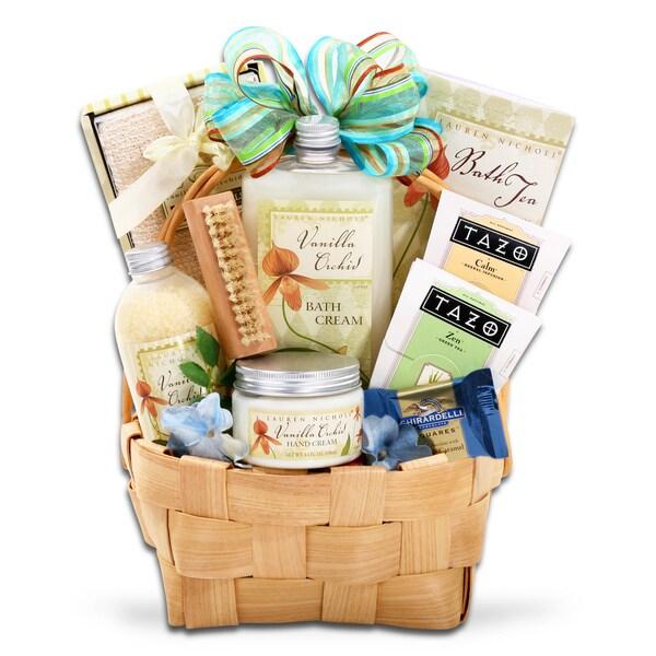 Alder Creek Gift Baskets Vanilla Orchids Spring Gift Basket