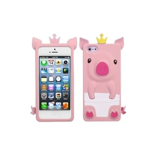 INSTEN Pink Cute Pig Soft Back Phone Case Cover for Apple iPhone 5