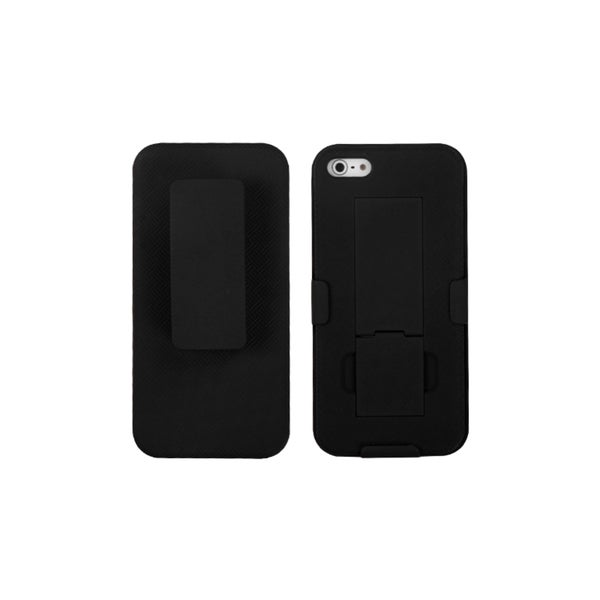 INSTEN Black Swivel Belt Clip Holster Phone Case Cover Combo for Apple iPhone 5