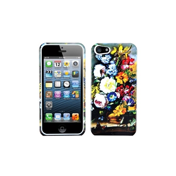 INSTEN Blumenstilleben Printed Design Hard Phone Case Cover for Apple iPhone 5