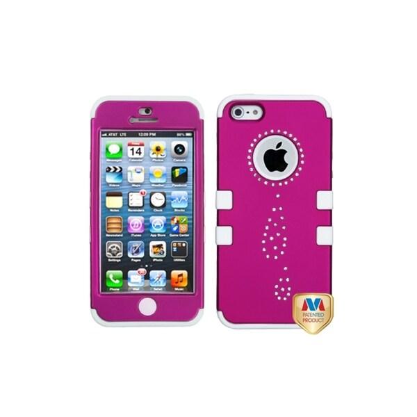 MYBAT Titanium Pink/ White Diamond Water Drop Case for Apple® iPhone 5