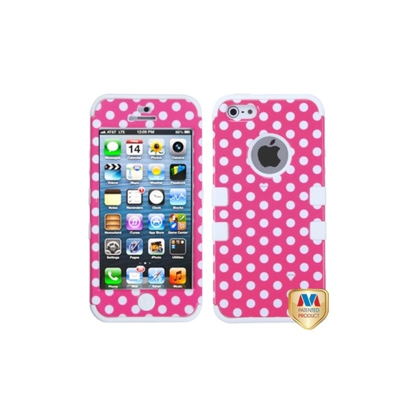INSTEN Rubber Impact TUFF Hybrid Phone Case Cover Skin Cover for Apple iPhone 5