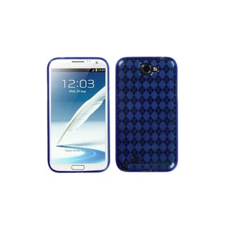 MYBAT Blue Argyle Gel TPU Case Checks Cover for Samsung� Galaxy Note 2