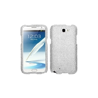 INSTEN Silver Luxury Diamond Dot Hard Plastic Phone Case Cover for Samsung Galaxy Note 2