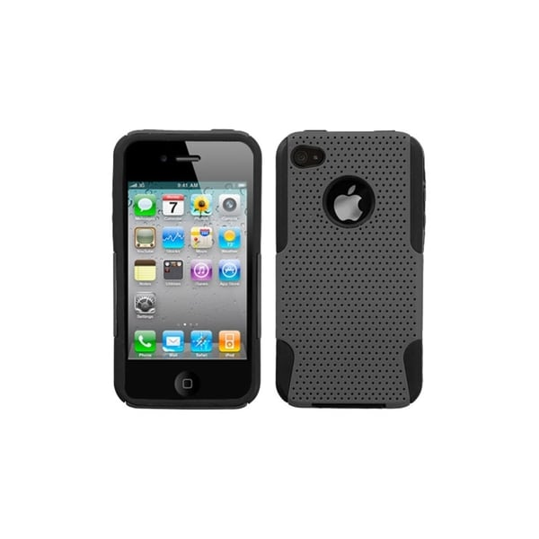 INSTEN Grey/ Black Astronoot Phone Case Cover for Apple iPhone 4/ 4S