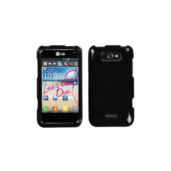 INSTEN Solid Black Phone Case Cover for LG MS770 Motion 4G