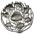 Handmade 'Fish in Coral' Metal 24-inch Wall Art