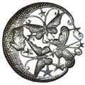Handmade 'Moon and Butterfl' 24-inch Metal Wall Art (Haiti)