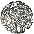 Handmade 'Double Tree of Life' Metal Wall Art 24-inch Wall Art (Haiti)