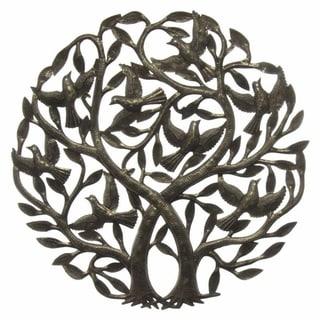 Handmade 'Double Tree of Life' Metal Wall Art 24-inch (Haiti)