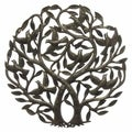 Handmade &#39;Double Tree of Life&#39; Metal Wall Art 24-inch Wall Art (Haiti)