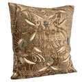 Beaded Velvet Gold Decorative Throw Pillow