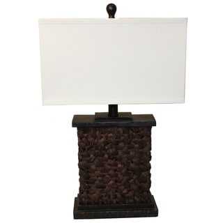 Casa Cortes Rattan 28-inch High Table Lamp