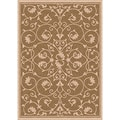 Woven Indoor/ Outdoor Antibes Brown and Beige Patio Rug (2'7 x 5'11)