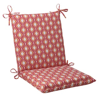 Pillow Perfect Zinger Polyester Pink/ Orange Square Outdoor Chair Cushion