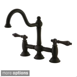 Victorian High Spout Oil Rubbed Bronze Bridge Kitchen Faucet