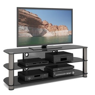 Sonax NY-9584 New York 58-inch Metal and Glass TV Stand