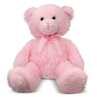 Melissa &amp; Doug Cotton Candy Pink Teddy Bear