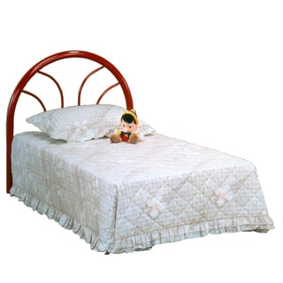 Bernards Red Twin Metal Headboard