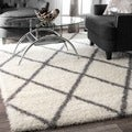 Rug Collective Moroccan Trellis Shag Rug (8&#39; x 10&#39;)