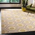Safavieh Hand-woven Moroccan Reversible Dhurrie Ivory Wool Rug (6' Square)