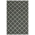 Handwoven Moroccan Dhurrie Chocolate-Brown Wool Area Rug (4' x 6')
