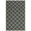 Safavieh Handwoven Moroccan Reversible Dhurrie Chocolate-Brown Geometric Wool Rug (8' x 10')