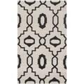 Safavieh Handwoven Geometric Moroccan Reversible Dhurrie Ivory Wool Rug (3' x 5')