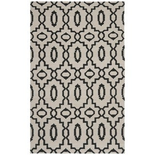 Safavieh Handwoven Moroccan Reversible Dhurrie Geometric Ivory Wool Rug (4' x 6')