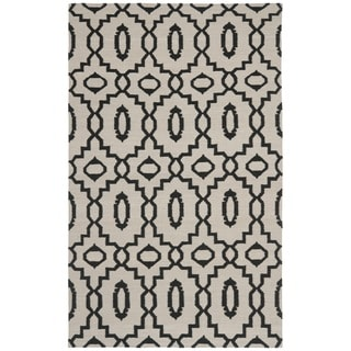 Safavieh Handwoven Moroccan Reversible Dhurrie Ivory Wool Area Rug (5' x 8')