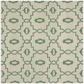 Safavieh Geometric Handwoven Moroccan Reversible Dhurrie Ivory Wool Rug (6' Square)