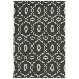 Safavieh Hand-woven Moroccan Dhurrie Chocolate Brown Wool Rug (4' x 6')