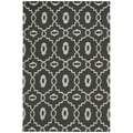 Safavieh Hand-woven Moroccan Dhurrie Chocolate Brown Wool Rug (5' x 8')