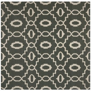 Safavieh Hand-woven Moroccan Dhurrie Chocolate Brown Wool Rug (6' Square)