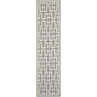 Safavieh Hand-woven Moroccan Reversible Dhurrie Soft Grey Wool Rug (2'6 x 10')