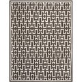 Safavieh Hand-woven Moroccan Dhurrie Chocolate Brown Wool Rug (6' x 9')