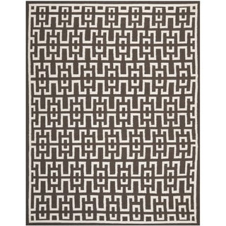 Safavieh Hand-woven Moroccan Dhurrie Chocolate Brown Wool Rug (8' x 10')
