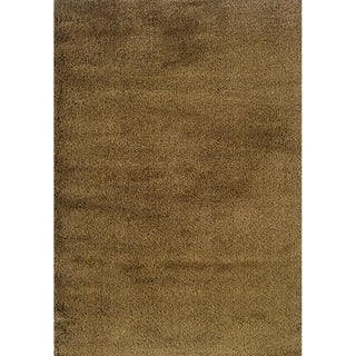 Indoor Gold Shag Area Rug (9'10 x 12'7)