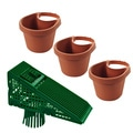 3-piece Drain Pipe Planter Set and Downspout Screen