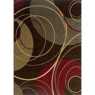 Indoor Brown/ Red Area Rug (9'10 x 12'9)