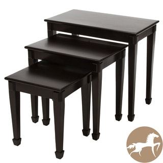 Christopher Knight Home Crescent Espresso Acacia Nesting Tables (Set of 3)